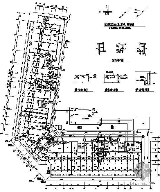 屋面消防水箱图纸资料下载-某十二层教师公寓楼给排水消防图纸