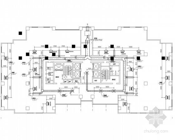 [湖北]高层商业宾馆办公综合楼通风空调排烟系统设计施工图(含机房)