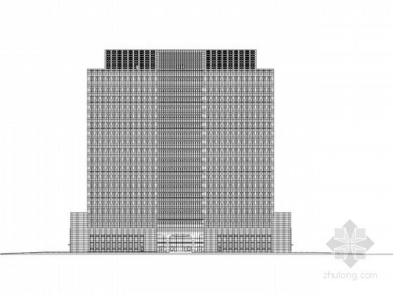 [江苏]19层高层办公楼建筑施工图(知名设计公司)