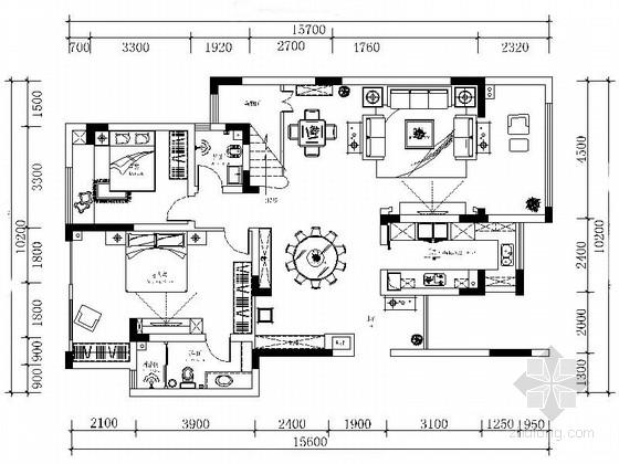 [重庆]跃层简欧风格全套家装室内设计装修图