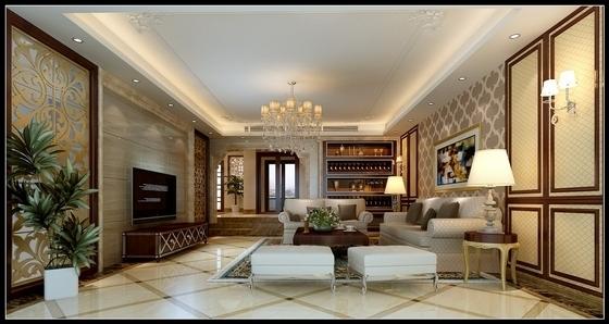 [沈阳]度假生活区古典简欧五居室装修图(含效果)客厅效果图