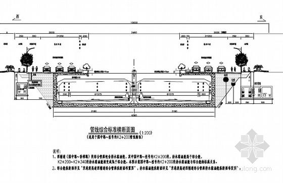 [湖南]单舱及三舱城市地下综合管廊设计图纸282张(电力信息给水中水燃气)