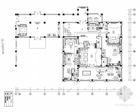 [北京]营口中式风格会所餐厅装修施工图