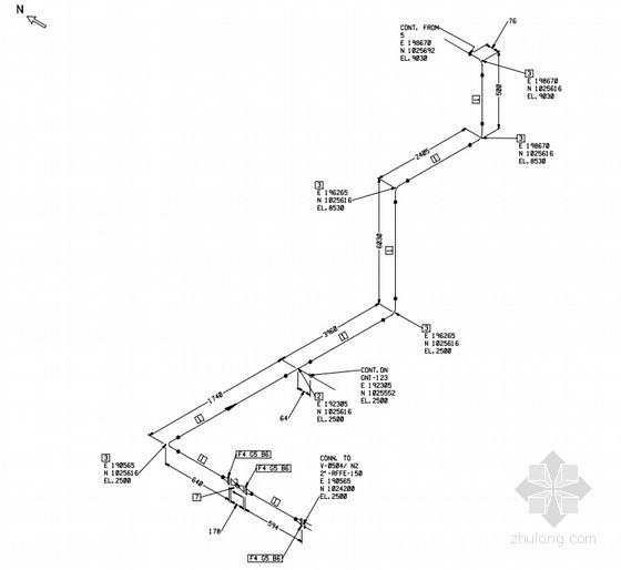 [福建]公共工程天然气管道系统设计竣工图纸(甲级院轴