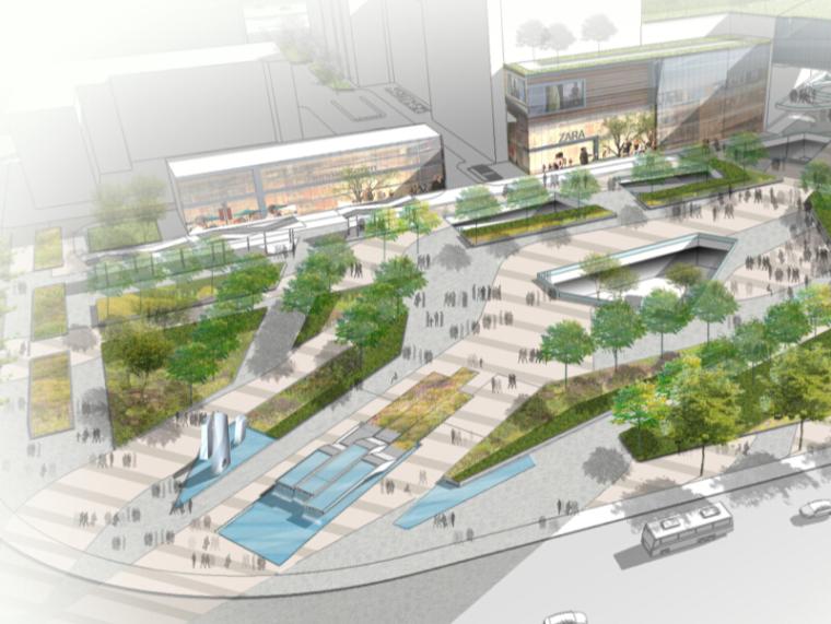 [福建]福州苏宁闽福发地块项目商业区景观设计方案(屋顶花园)