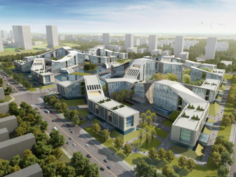 天津武清总部产业园区概念方案设计(两套设计方案+高清效果图)