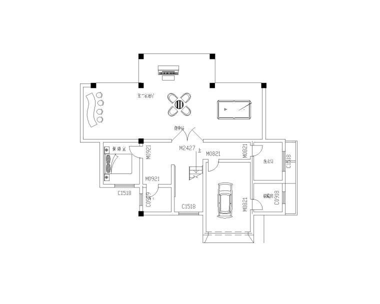 三层独栋别墅户型图CAD图纸及透视效果图(CAD+JPG)