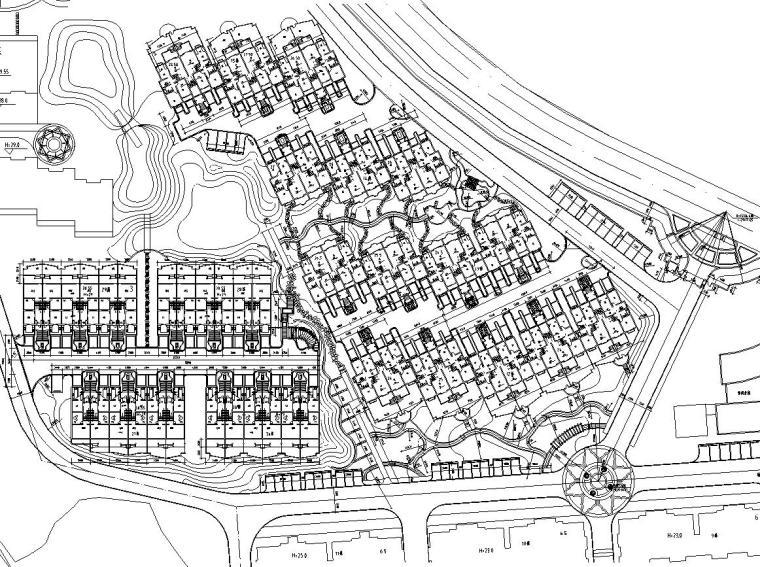 [江苏]南京香山美墅别墅区工程全套景观设计施工图(L&A奥雅)