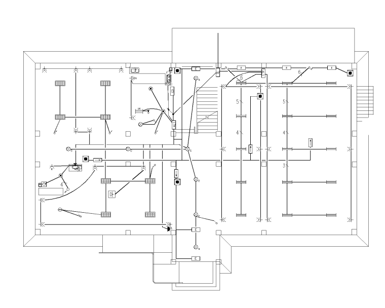 2019阿克塞综合办公楼电气施工图(电气节能)