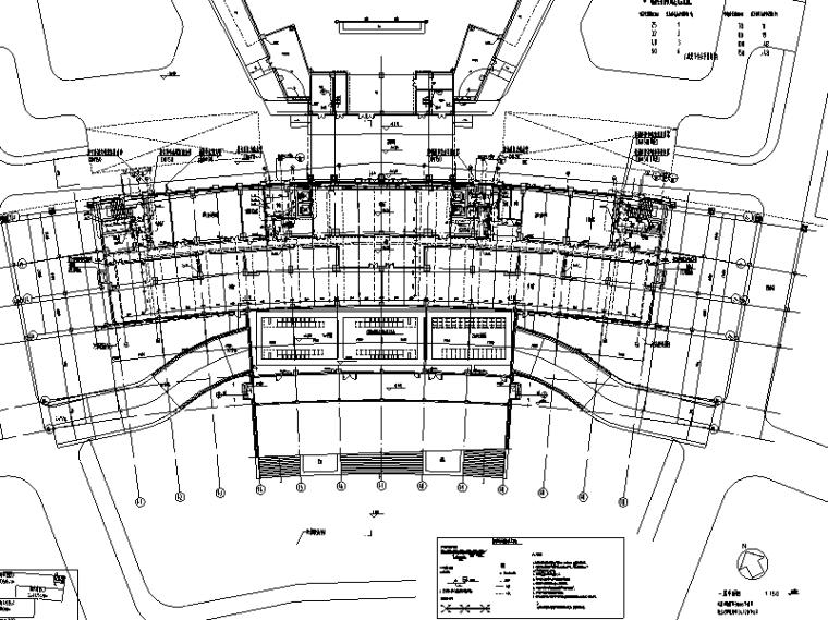 启东市行政综合服务中心给排水系统施工图(CAD)
