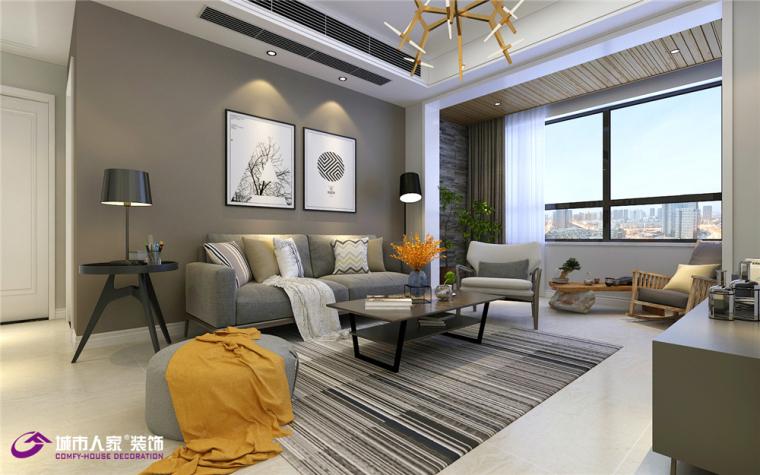 祥泰城两居室现代风格装修案例