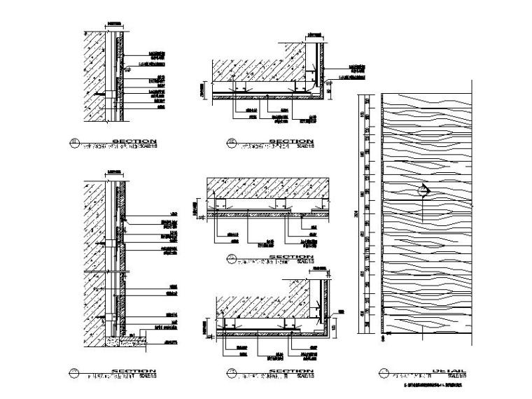 木饰面干挂大样节点图