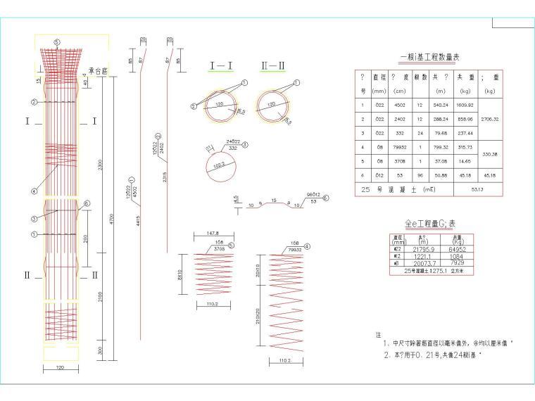 30+110+30m钢管混凝土中承式提篮拱特大桥梁施工图(175张)_7