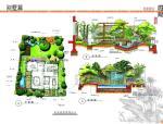 40套别墅手绘筑景景观园林高清图—别墅篇