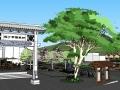 美丽乡村公园设计SU模型