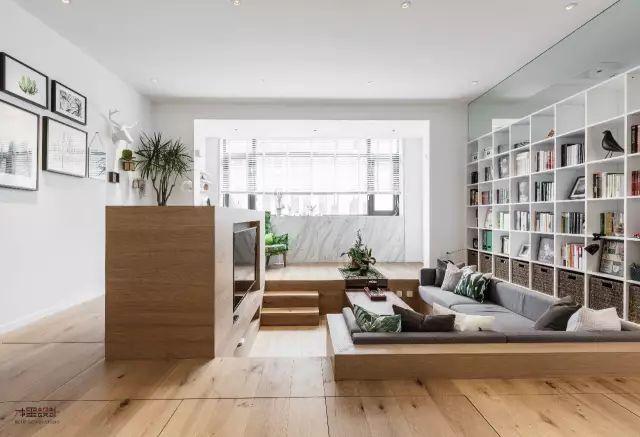 巧用下沉式设计,60㎡单层小宅也能装出200㎡的超大Loft