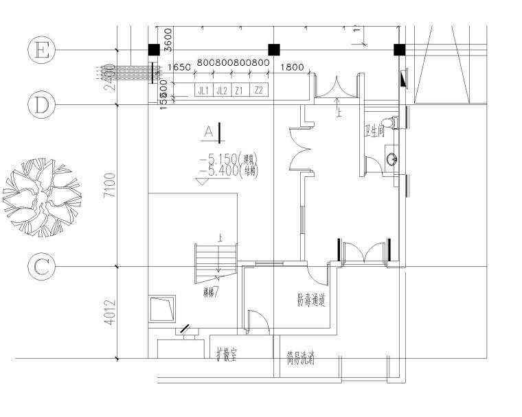 瑞金宾馆电气设计全套50张图纸(含强电与弱电、建筑、结构)_2