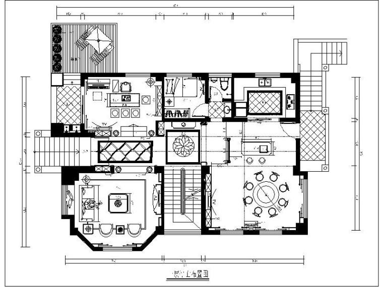 [泉州]全套歐式別墅設計施工圖(含效果圖)