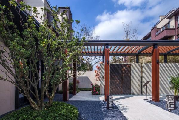 [上海]东南亚风格内向庭院高端海派园林景观设计PDF施工图(附实景图)
