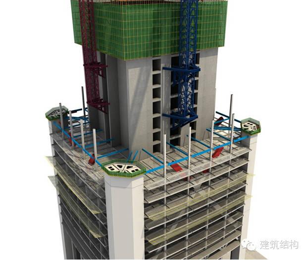 建筑结构丨超高层建筑钢结构施工流程三维效果图_26