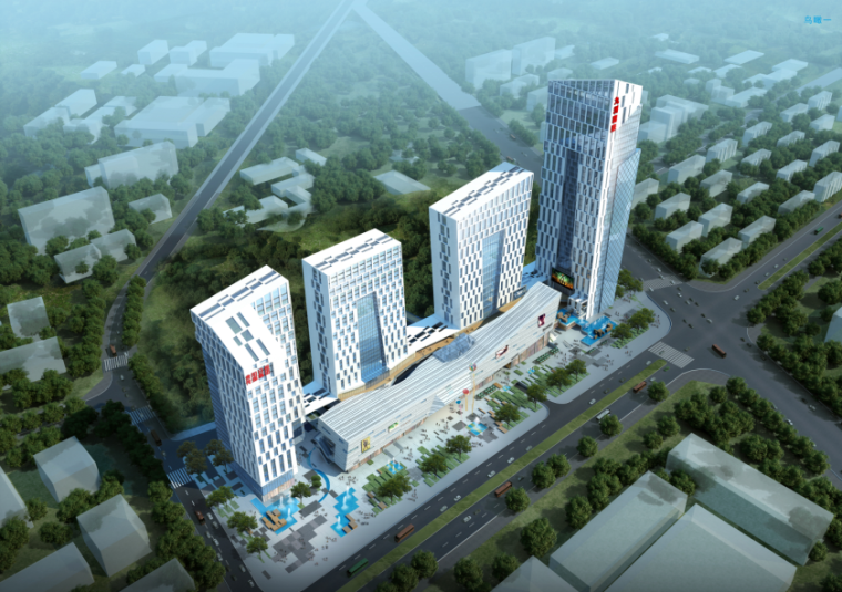 [贵州]多功能传媒广场设计方案文本(含CAD施工图、PS分析图)