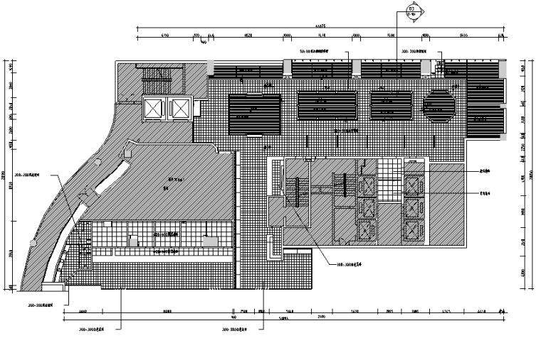 [新疆]新疆特色美食餐厅设计施工图(附效果图)