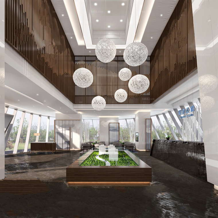 [售楼处]19套现代风格、中式风格 售楼处场景3D模型