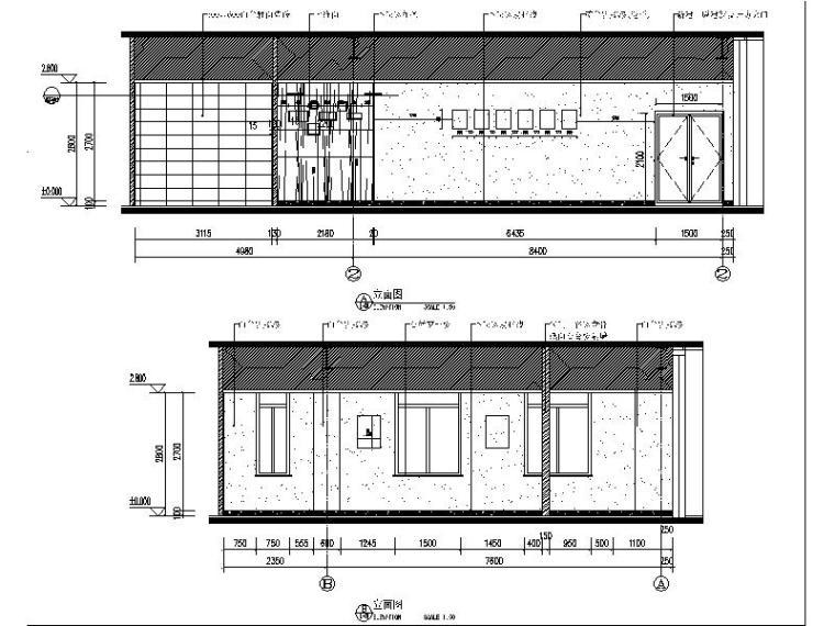 [北京]某医疗器械公司食堂装修设计施工图(含效果图)_2