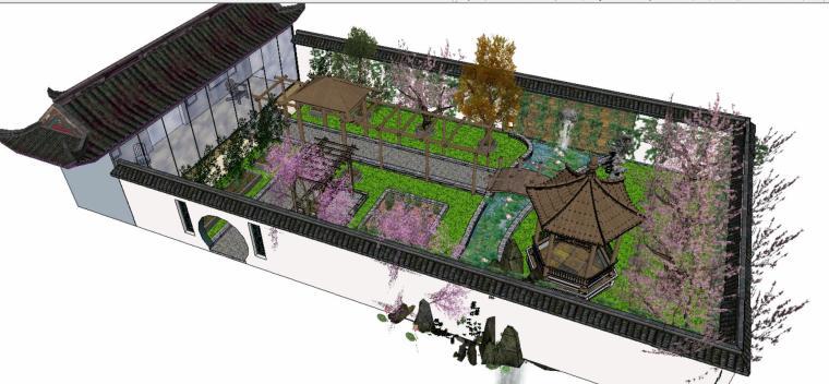 庭院景观设计SU模型