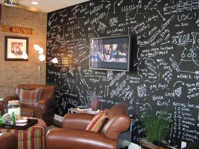 趣味又实用的黑板墙,涂涂写写一样美。_4