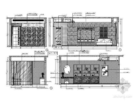 中式风格卧室立面图