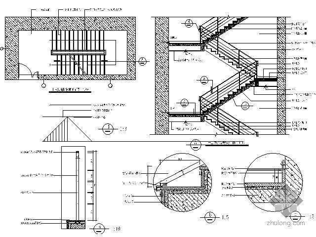 期货大厦消防楼梯详图