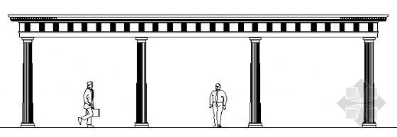 欧式廊柱结构图