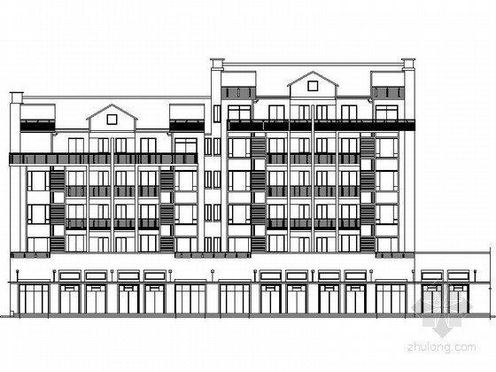 [湖北]某小区六层商住楼建筑施工图(南梯)