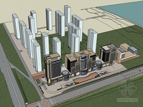 新古典办公楼SketchUp模型下载