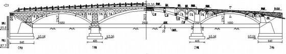 某(15.5+25+15.5)m圆弧线钢筋混凝土板拱桥设计图