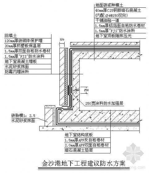 防水方案设计及防水工种质量控制