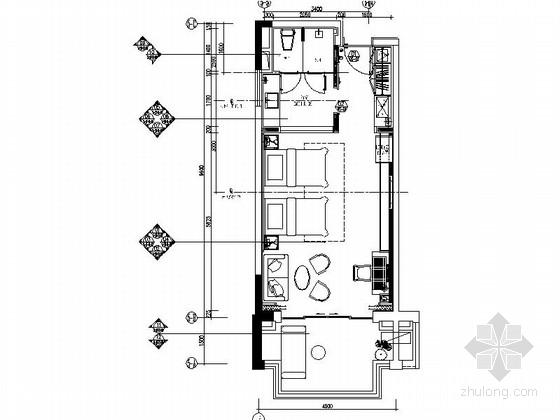 [海南]海滨风光接待中心客房装修施工图(含效果)