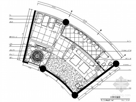 [福州]豪华欧式风格音乐会所装修CAD施工图(含效果图)