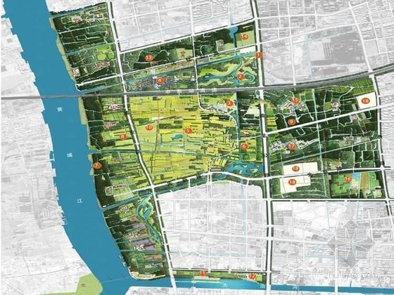 [上海]生态型魅力城市农田郊野公园设计分析方案(知名设计公司)
