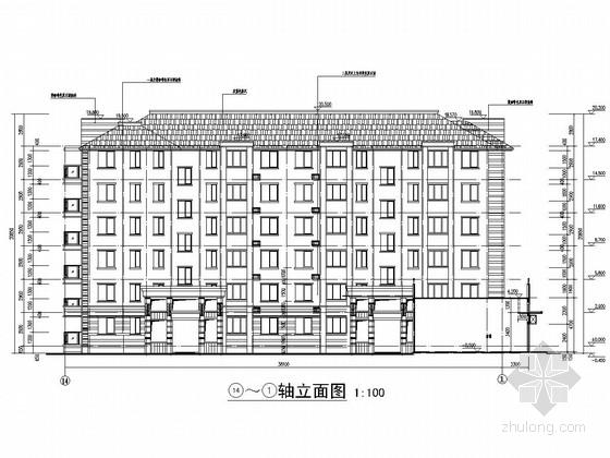 2700平六层框架结构住宅楼结构施工图(含建筑图)