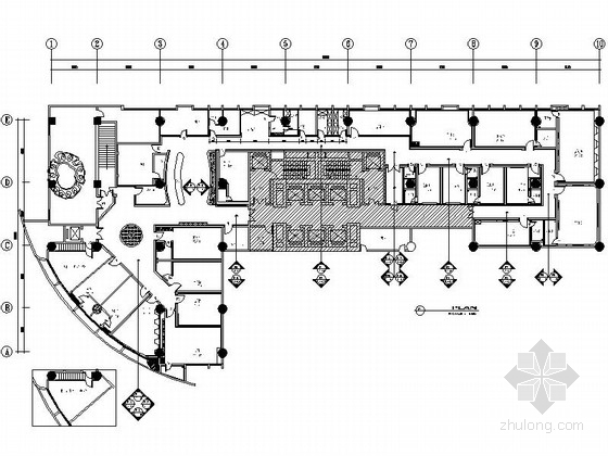 [南京]时尚国际娱乐会所室内装修设计施工图(含效果)