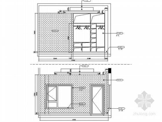 [昆山]新古典双层别墅样板房装修图(含效果)客房立面图