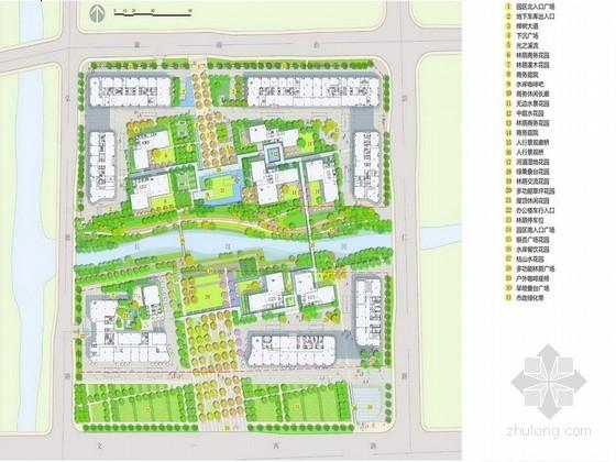 [杭州]现代商务办公园区景观设计方案
