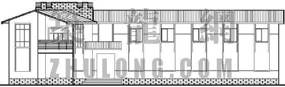 带有别墅风格的低层办公楼施工图