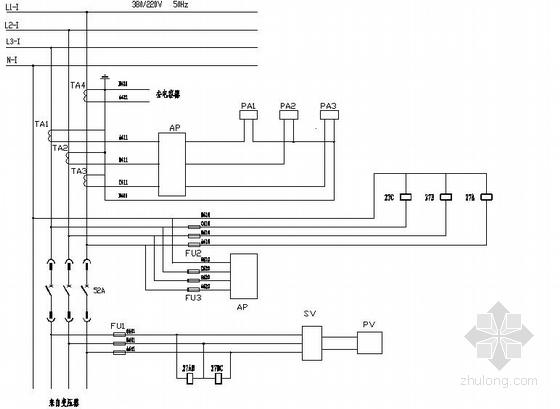 某甲乙酮化工厂电气控制原理图