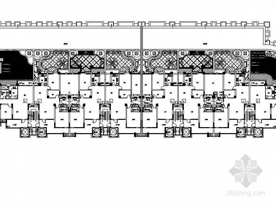住宅楼屋顶花园景观工程施工图