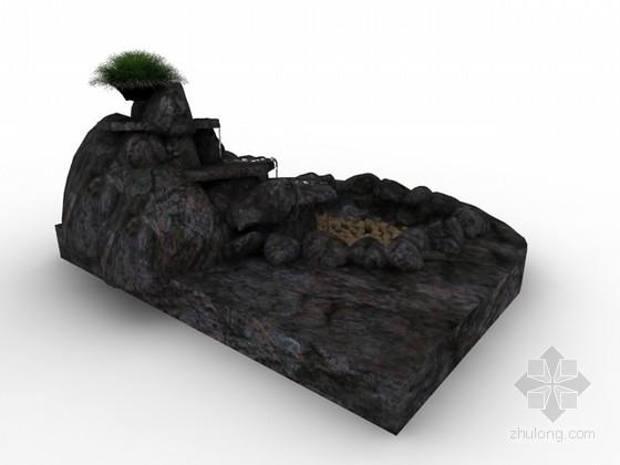 假山3d模型下载