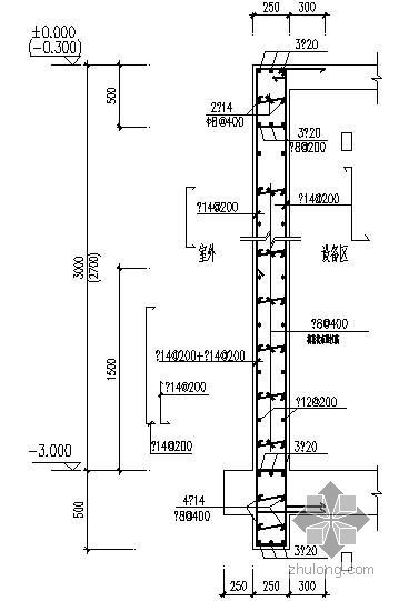 某地下室外墙大样WQ节点构造详图