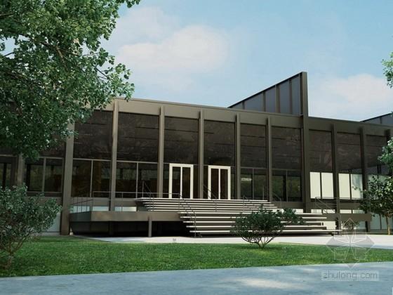 现代风格办公建筑3d模型下载